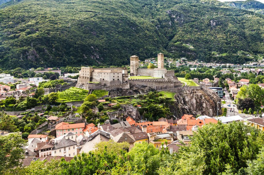 Views of Bellinzona in Switzerland.