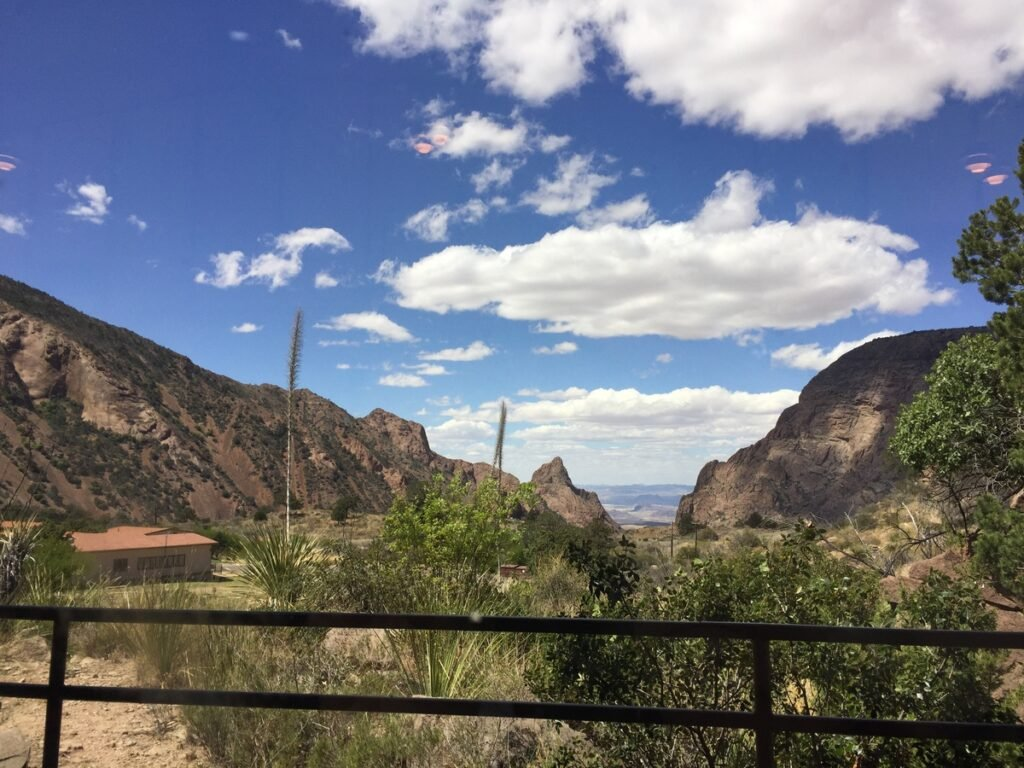 Views of Big Bend National Park from the restaurant.