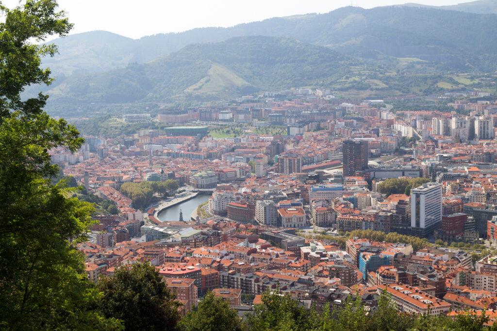 Views of Bilbao, Spain, from Mount Artxanda.