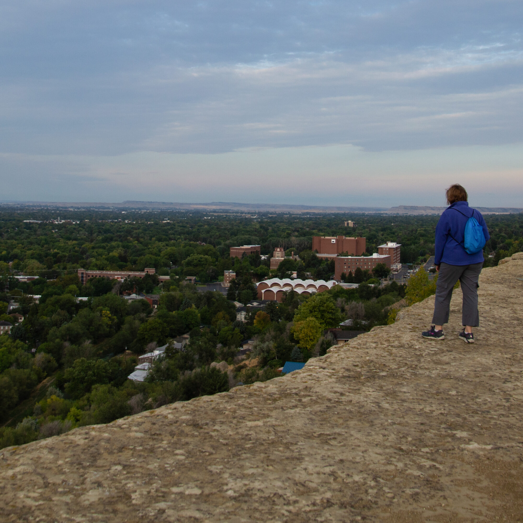 Views of Billings, Montana, from the Rims.