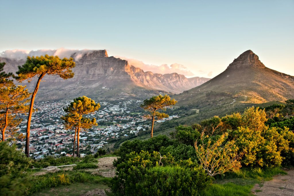 Views of Cape town from Signal Hill.