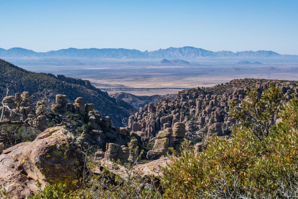Views of Chiricahua National Monument form Massai Point.