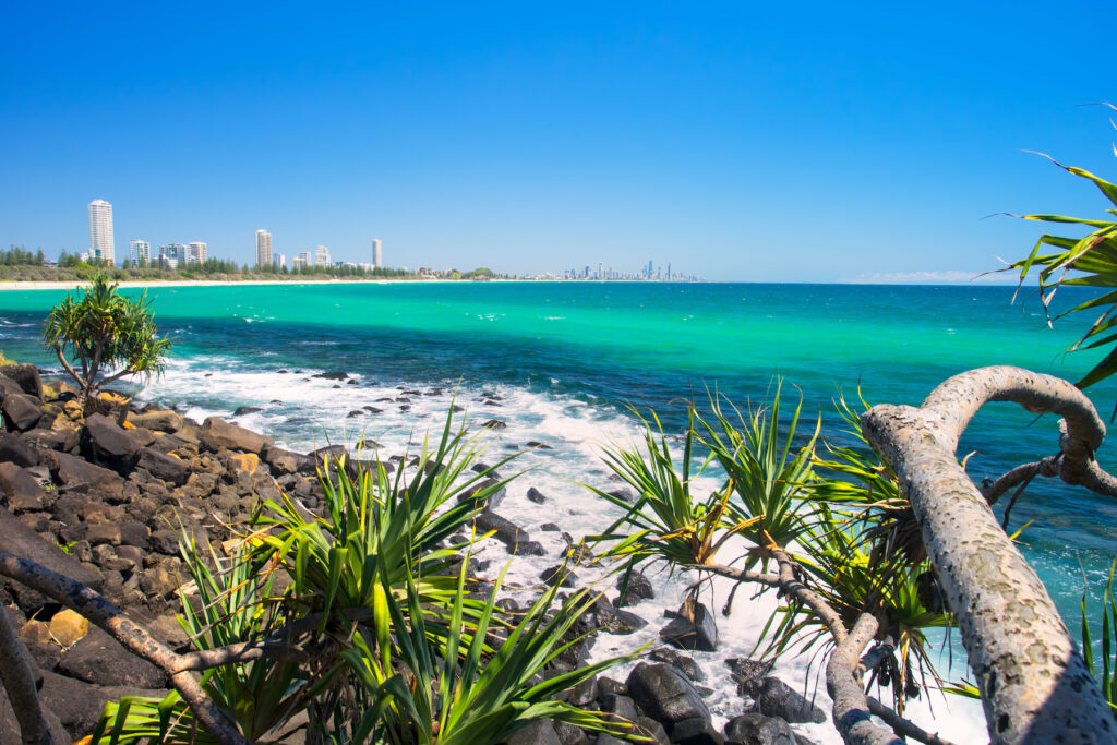 Views of Gold Coast from Burleigh Heads.