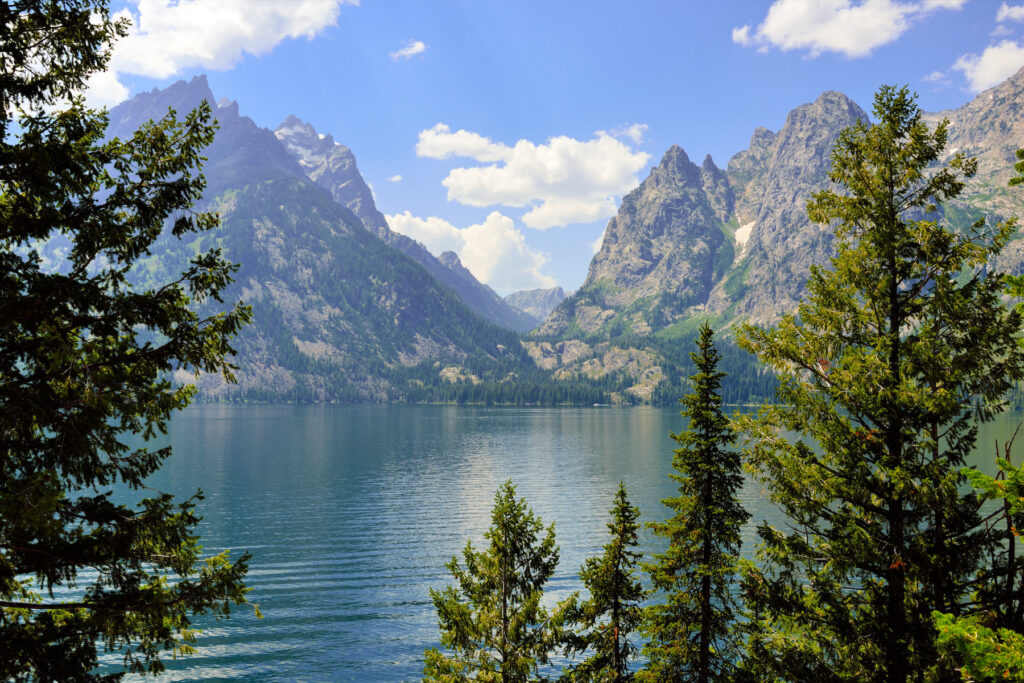 Views of Grand Teton National park from the Jenny Lake Trail.