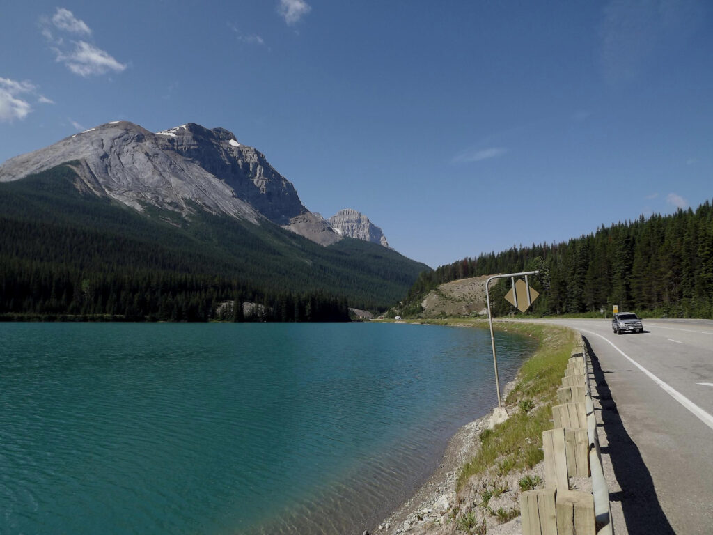 Views of Kicking Horse Pass from the Trans-Canada Highway.