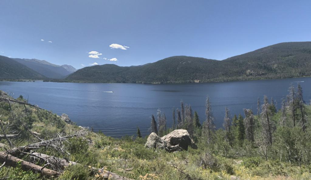 Views of Lake Granby in Colorado.