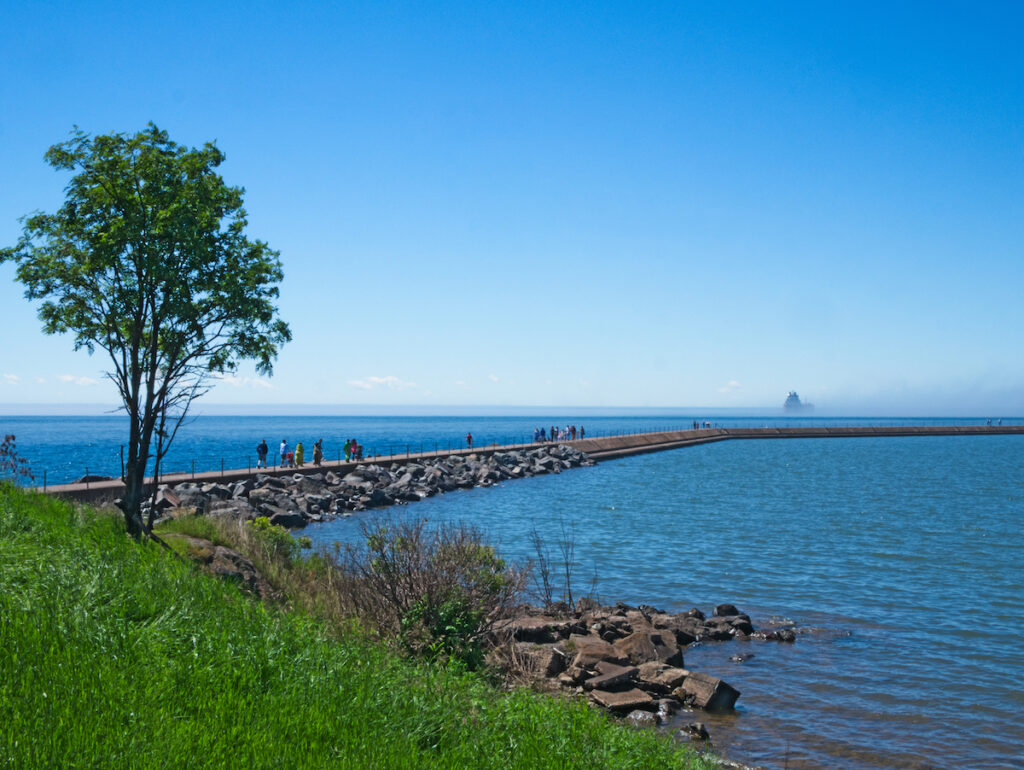 Views of Lake Superior from Two Harbors.