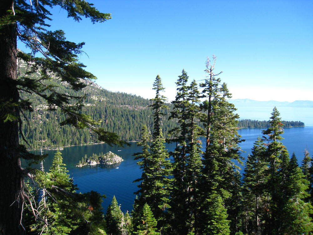 Views of Lake Tahoe from the Rubicon Trail.