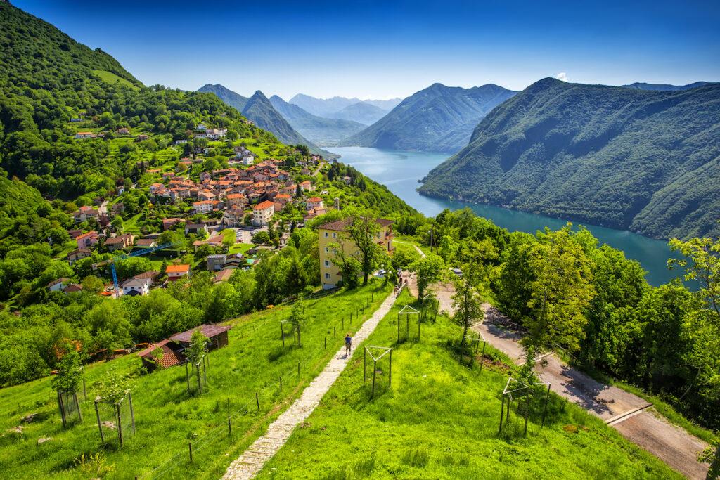 Views of Lugano in Switzerland.