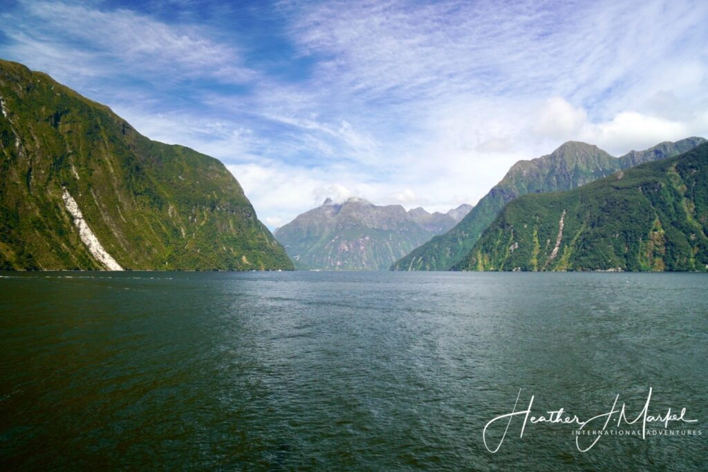 Views of Milford Sound in New Zealand.