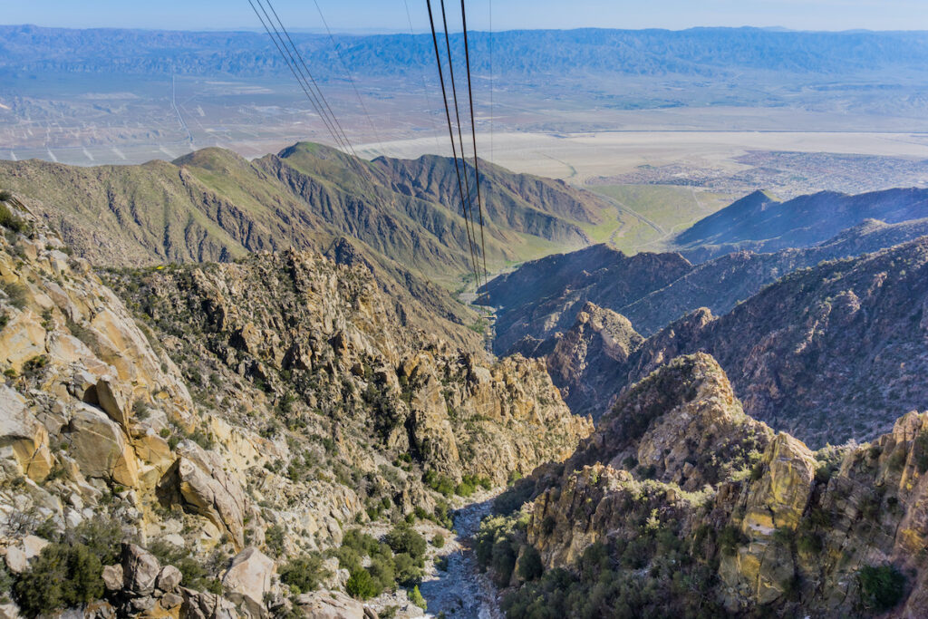 Views of Mount San Jacinto State Park from the Palm Springs Aerial Tramway.