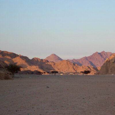 Views of Mount Sinai during the writers' trip.