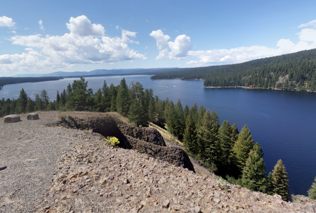Views of Payette Lake from the Huckleberry Loop Trail.