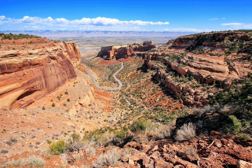 Views of Rim Rock Drive at Colorado National Monument.