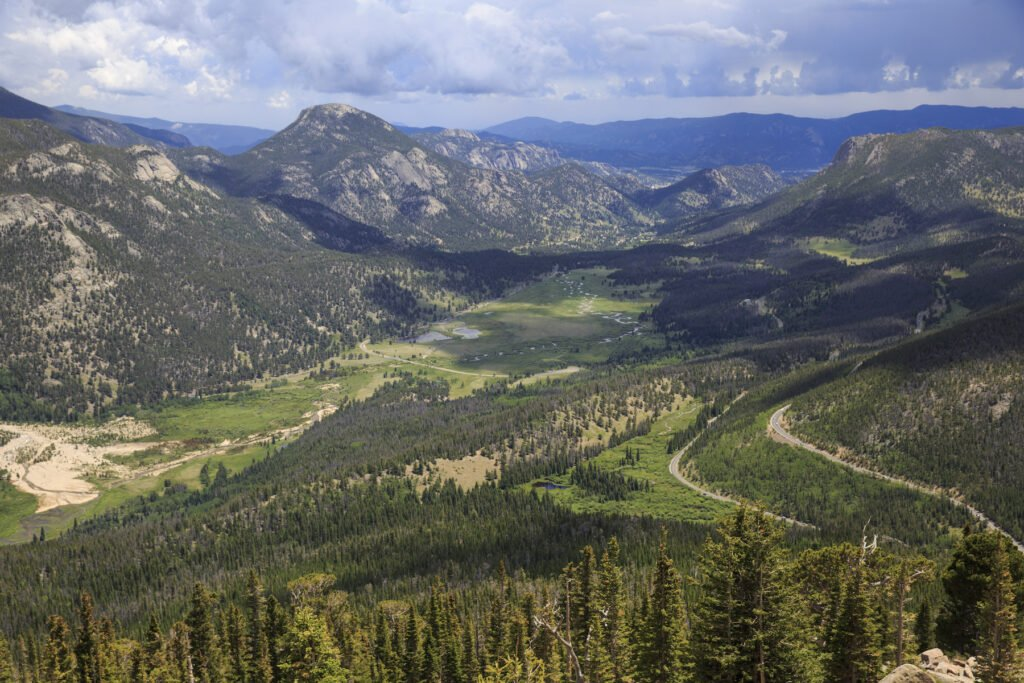 Views of Rocky Mountain National Park in Colorado.