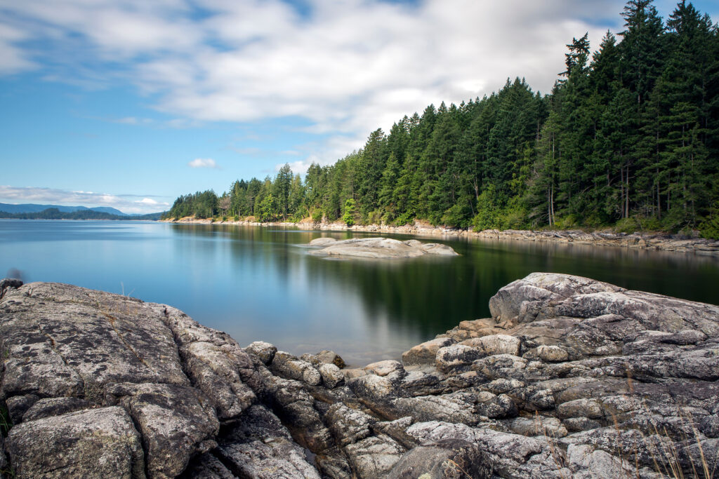 Views of Saltery Bay in British Columbia.