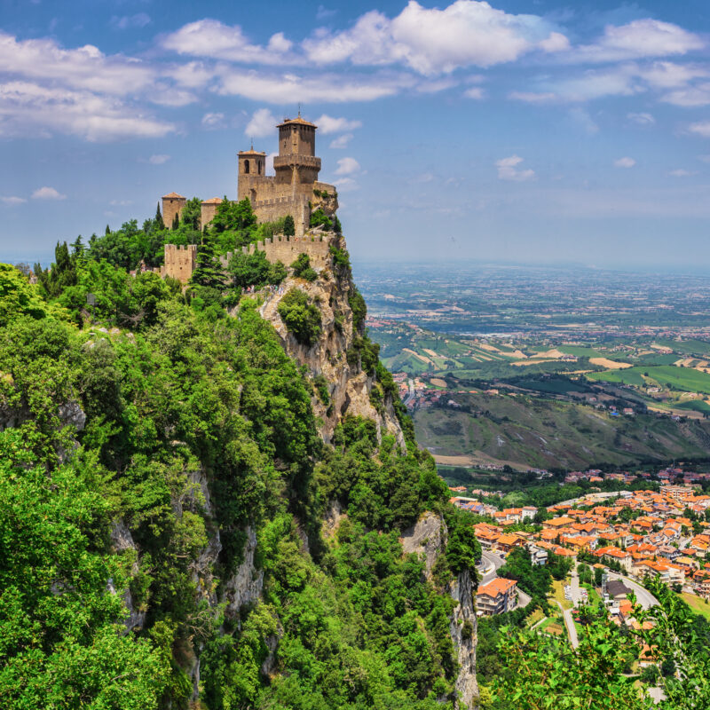 Views of San Marino, one of the world's smallest countries.