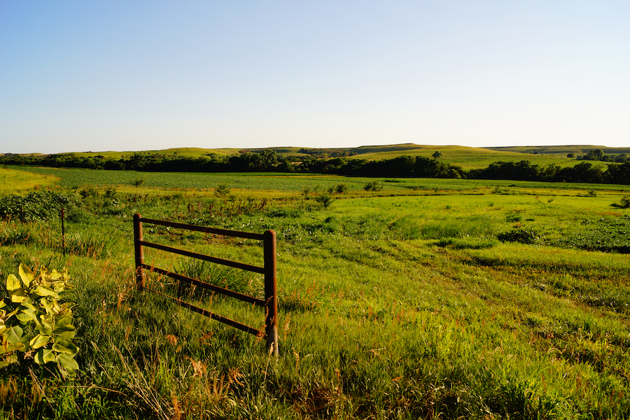 Views of the beautiful Flint Hills in Kansas.