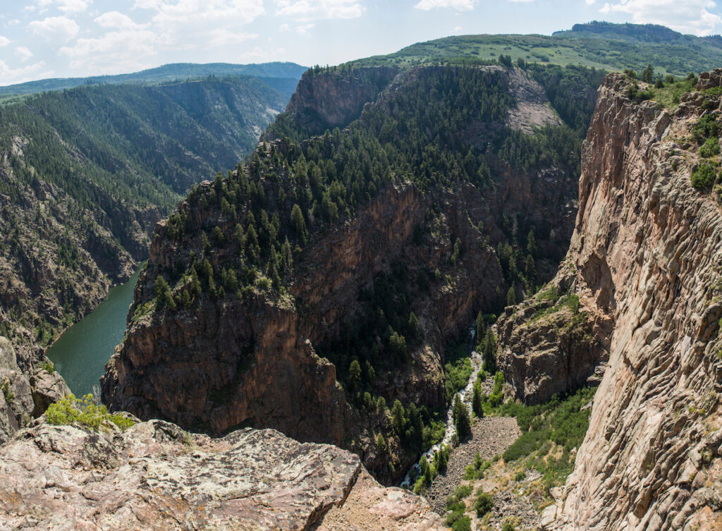 Views of the Black Canyon from the north rim.