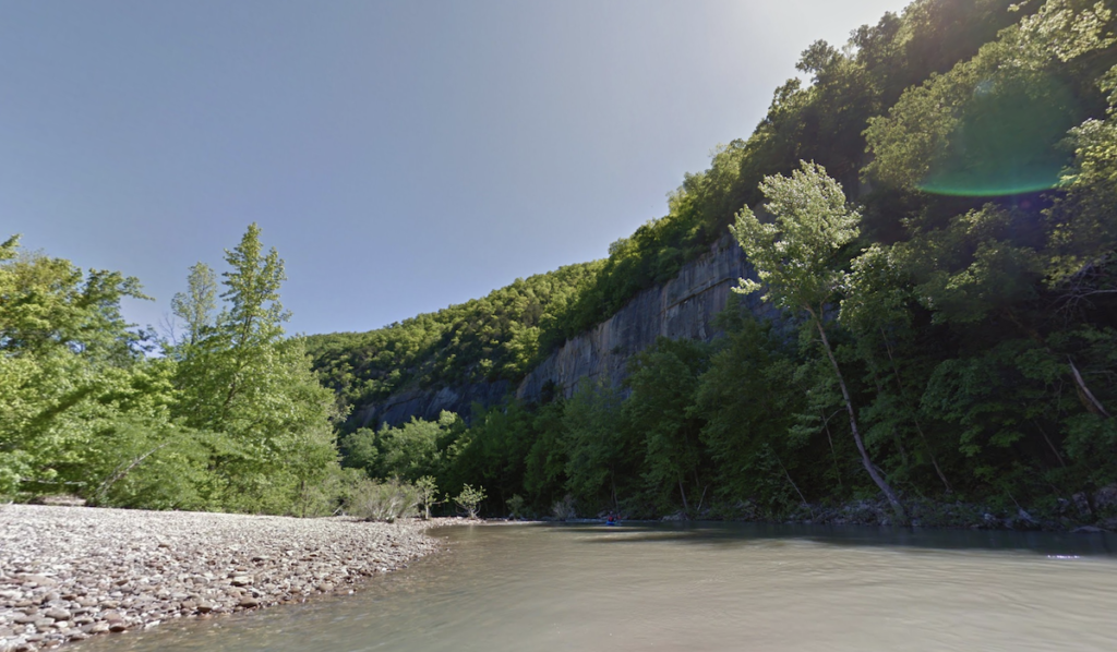 Views of the Buffalo River from the Steel Creek Campground.