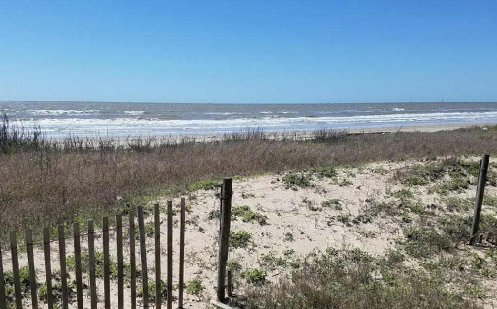 Views of the Gulf of Mexico from the McFaddin National Wildlife Refuge.