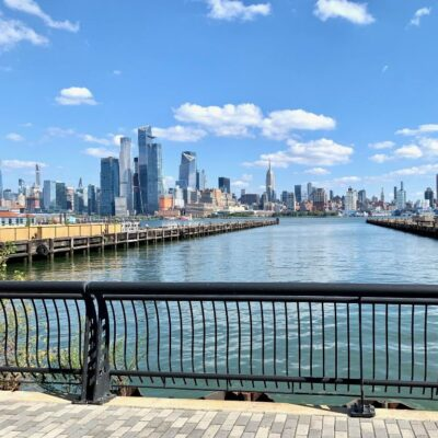 Views of the Hoboken waterfront.