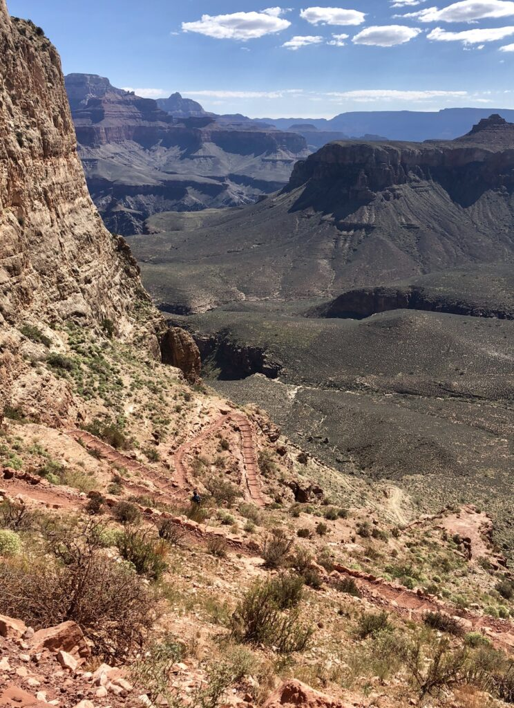 Views of the Kaibab Trail Trail at the Grand Canyon.