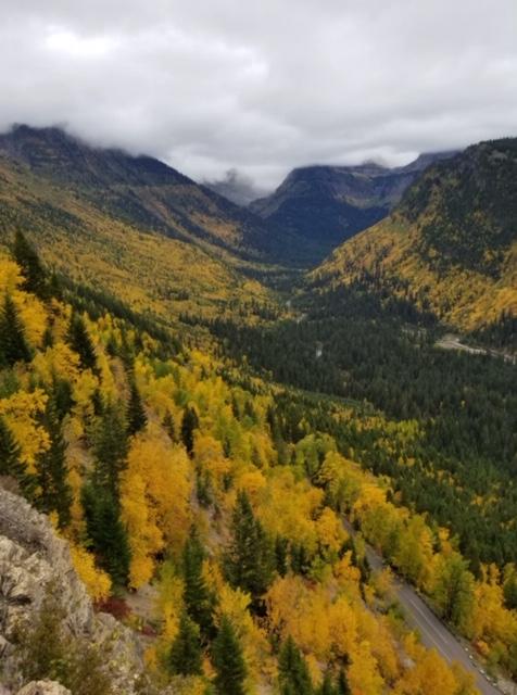 Views of the Logan Creek Valley and McDonald Valley.