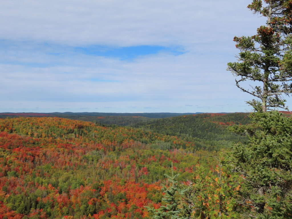 Views of the Lutsen Mountains during fall.