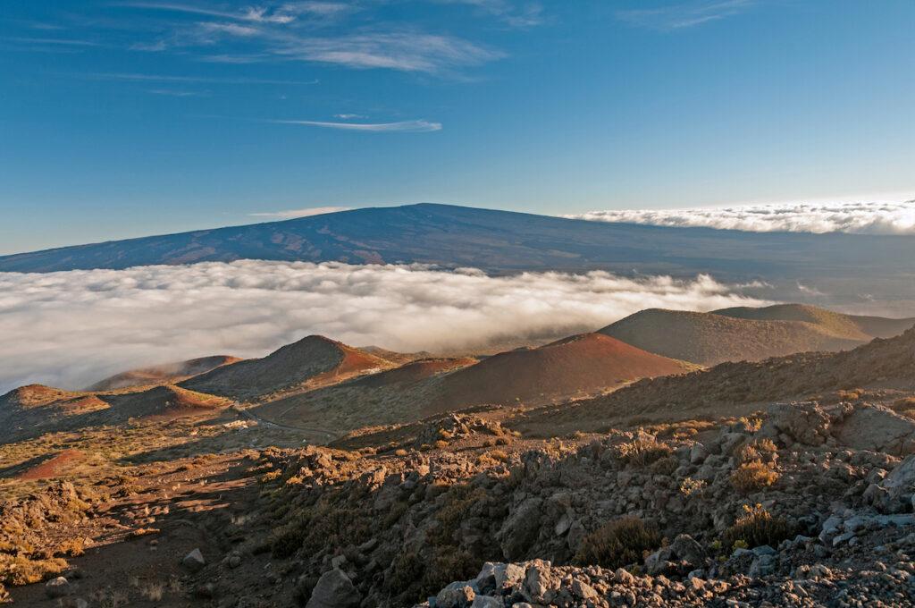 Views of the Mauna Loa Volcano in Hawaii.