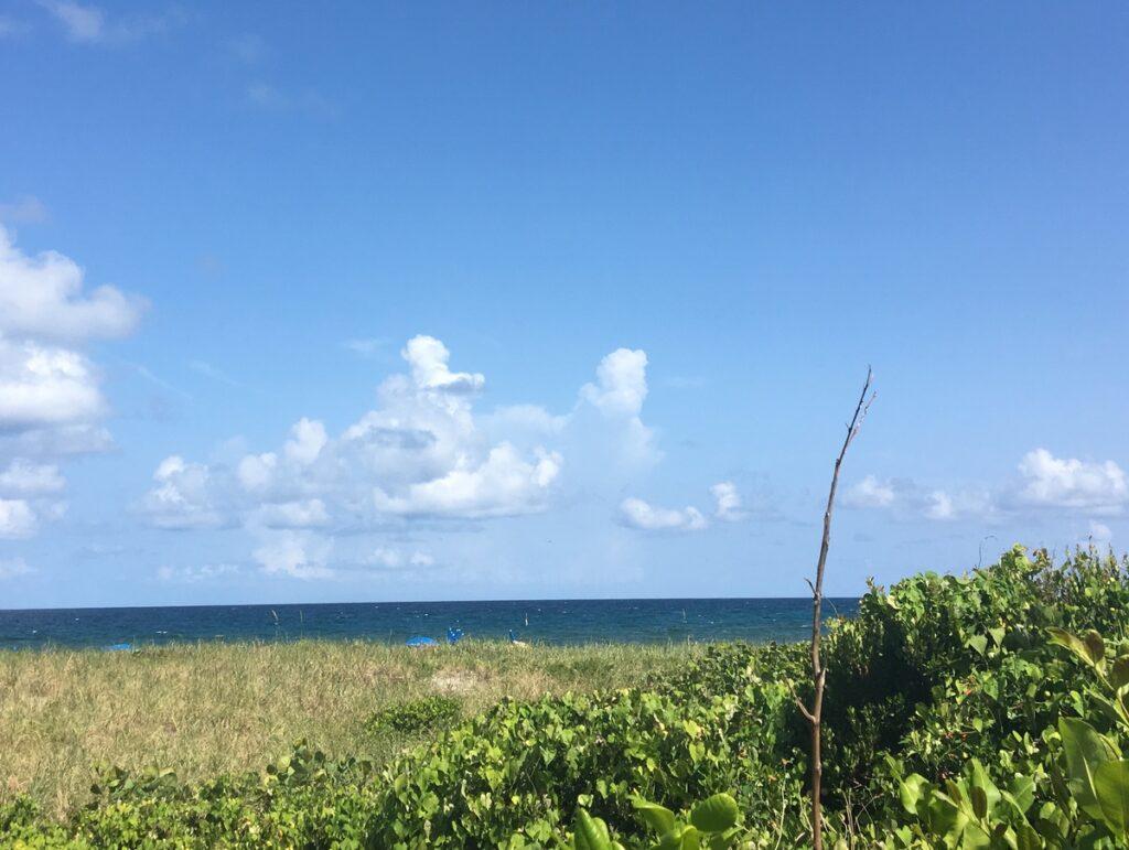 Views of the ocean from Boca Raton, Florida.