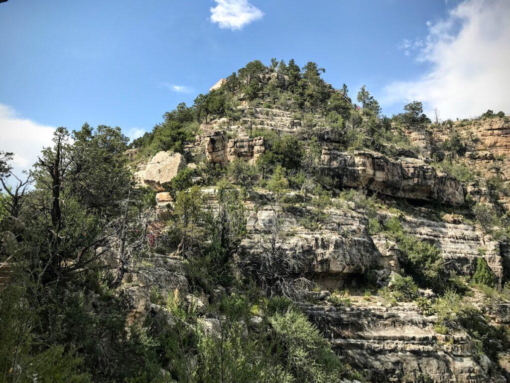 Views of Walnut Canyon in Arizona.