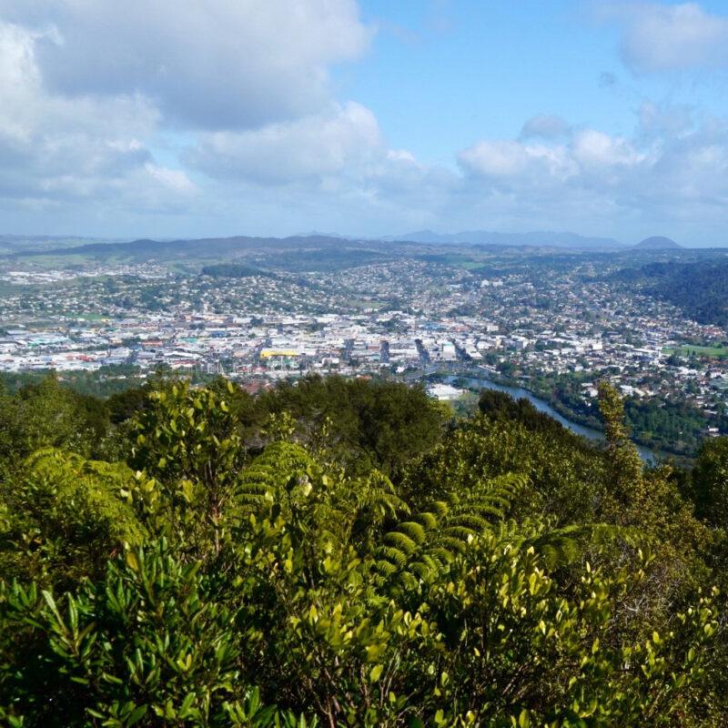Views of Whangarei from Mount Parihaka.
