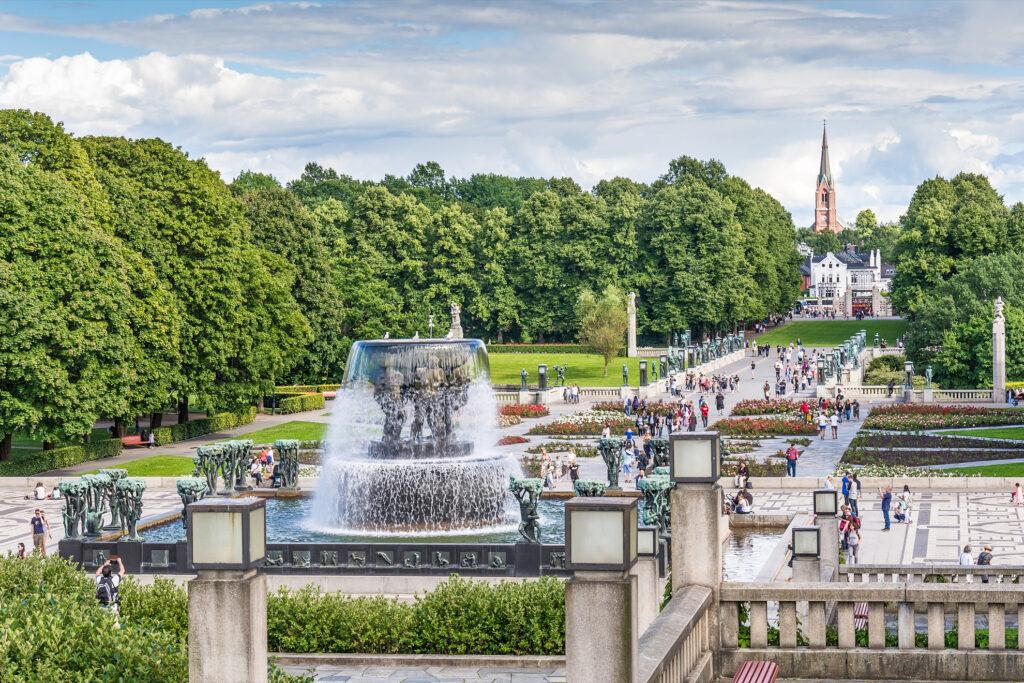 Vigeland Park in Oslo, Norway.