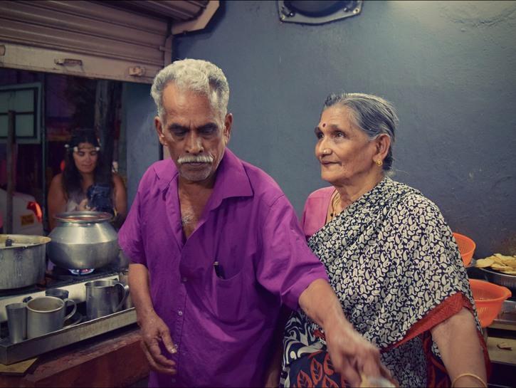 Vijayan and Mohana tea shop owners Kochi India