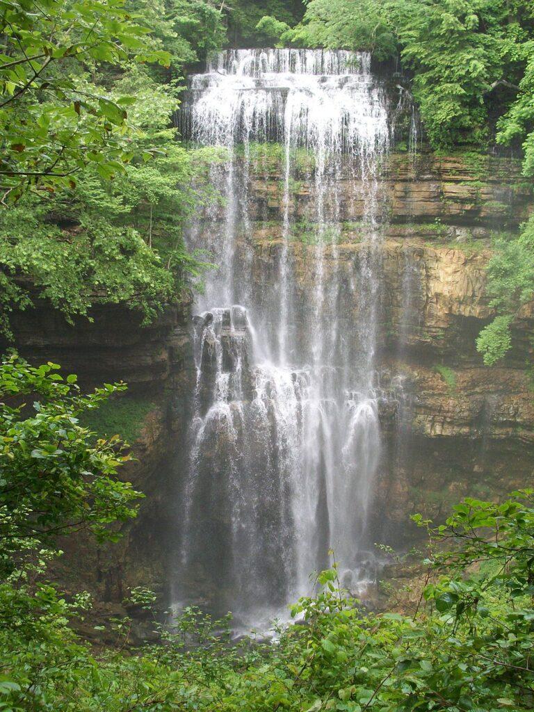 Virgin Falls iin Pleasant Hill, Tennessee.