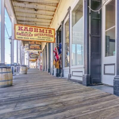 Virginia City shops in Nevada.