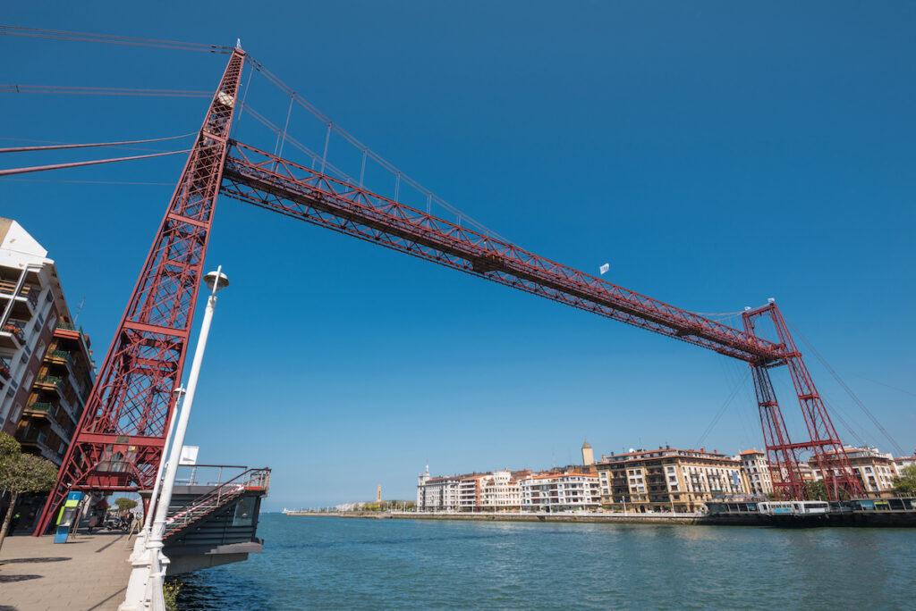 Vizcaya Bridge in Bilbao, Spain.