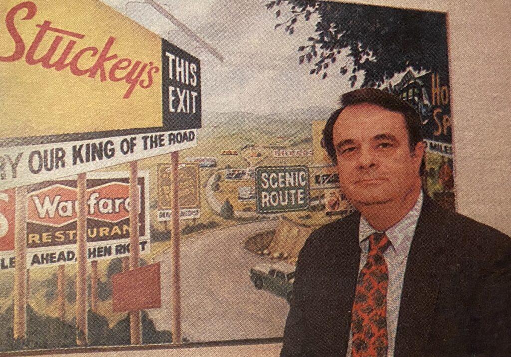 W.S. Stuckey, Jr., son of founder of Stuckey's, circa 1985