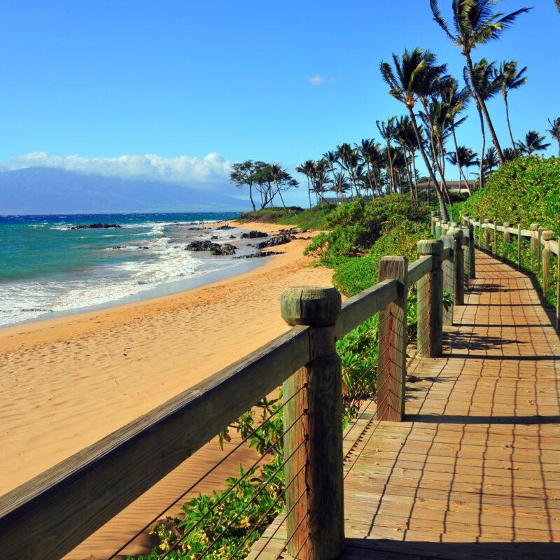 Wailea Beach views in Maui, Hawaii.