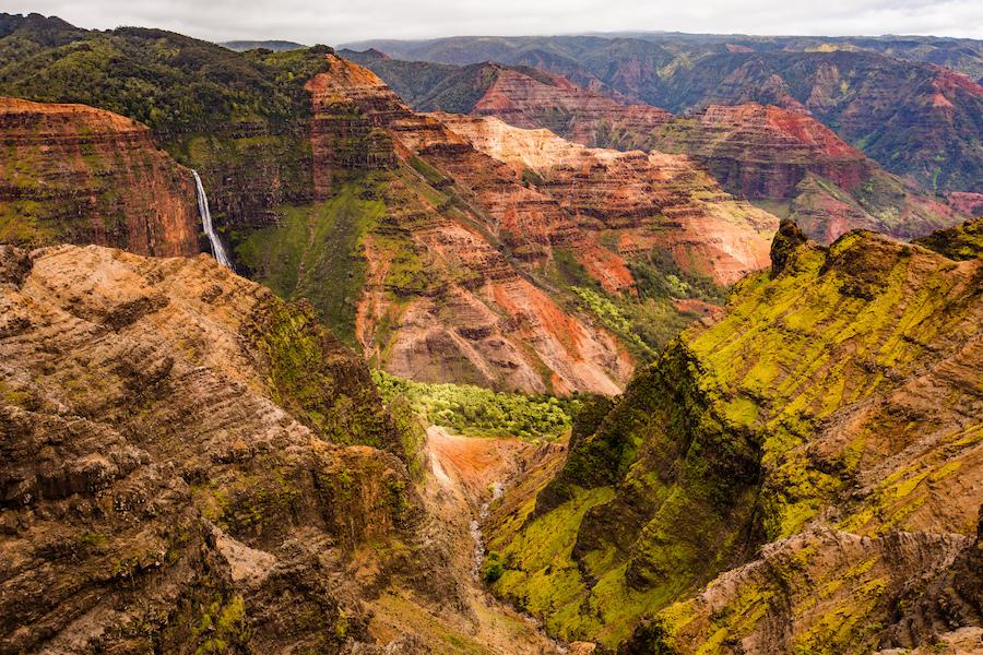 Waimea Canyon on the island of Kauai.