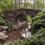 Walking bridge at Garvan Woodland Gardens.