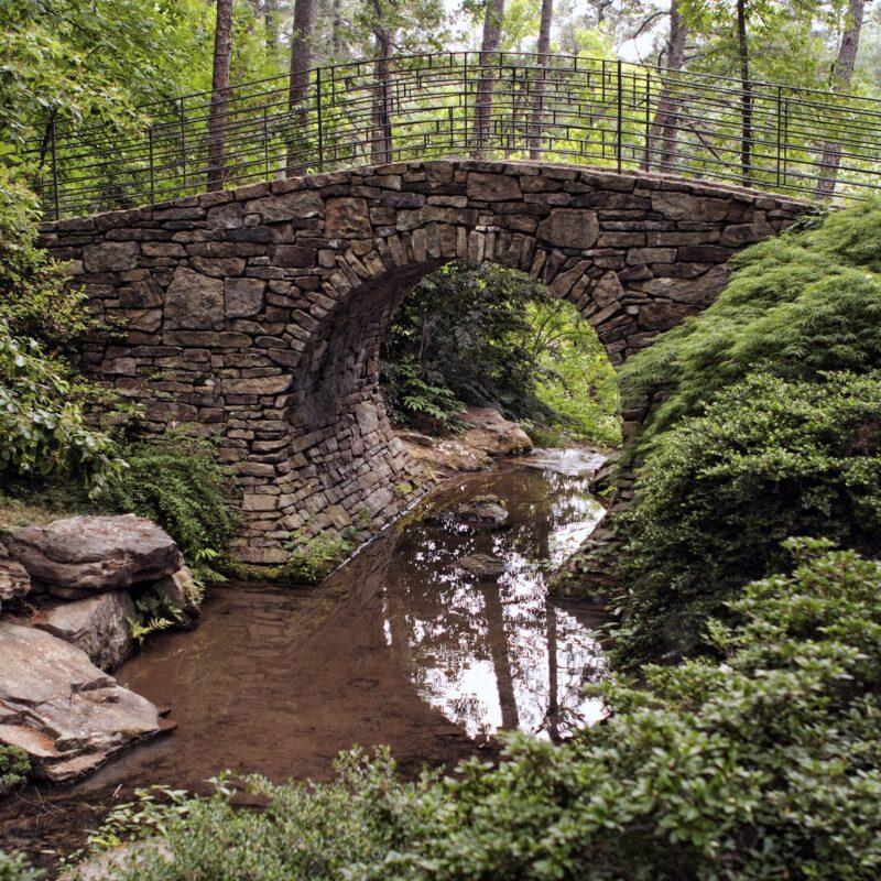 Walking bridge at Garvan Woodland Gardens.