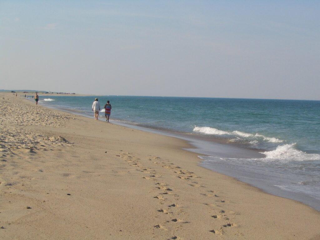 Walking on the beach at Cape Cod National Seashore.
