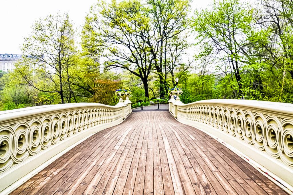 Walking on the Bow Bridge.