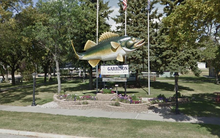 Wally the Walleye in Garrison, North Dakota.