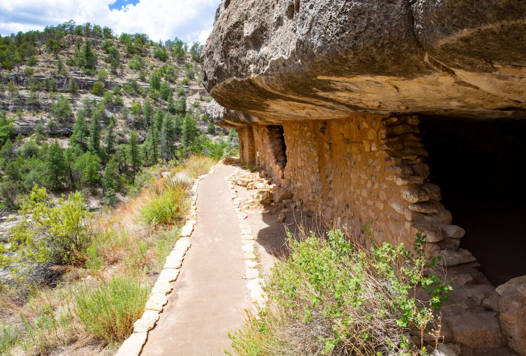 Walnut Canyon Monument near Flagstaff, Arizona.