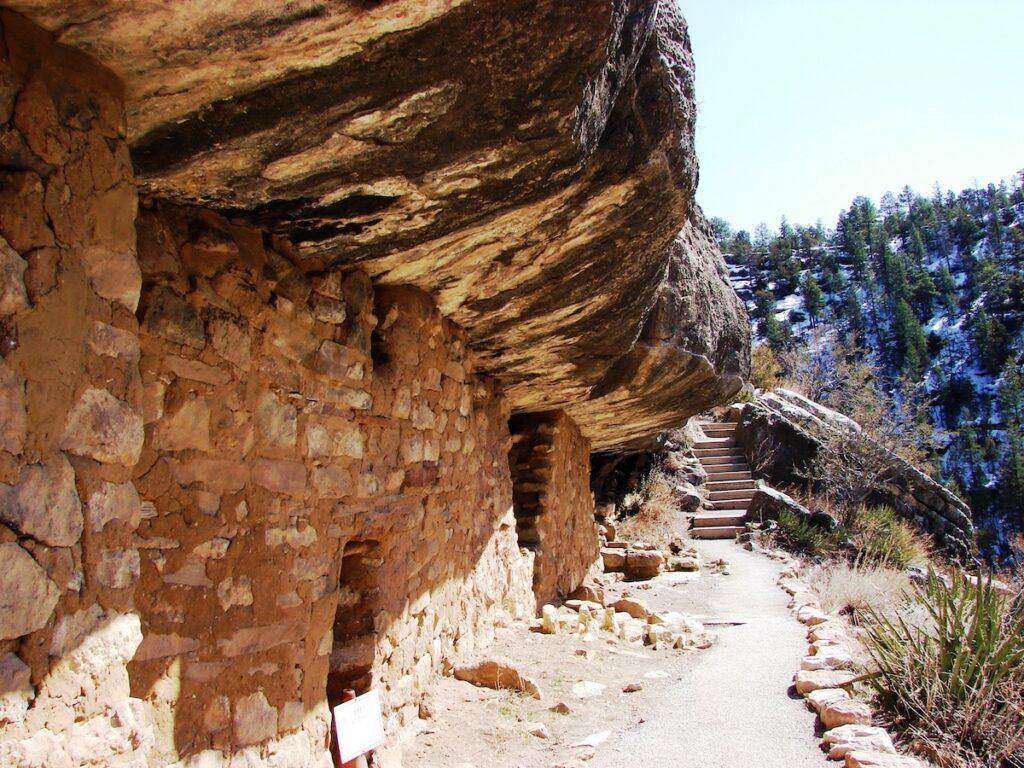 Walnut Canyon National Monument in Arizona.