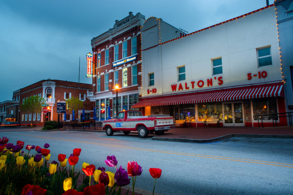 Walton's 5and10 in Bentonville Town Square.