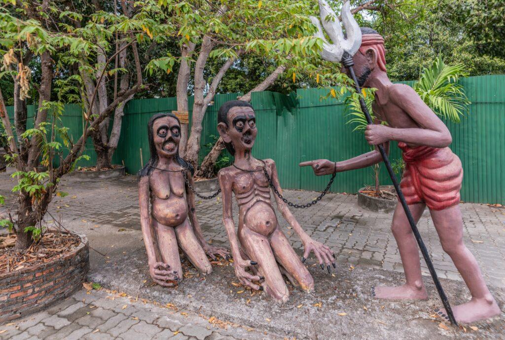 Wang Saen Suk Hell Garden in Thailand.